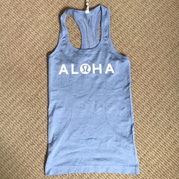 """lululemon athletica Tops - NWOT Lululemon """"aloha"""" swiftly tech racer back"""